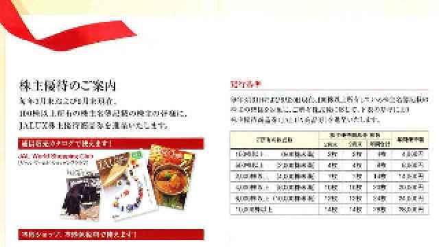 JALUXより株主優待品が到着しました(2011年10月)