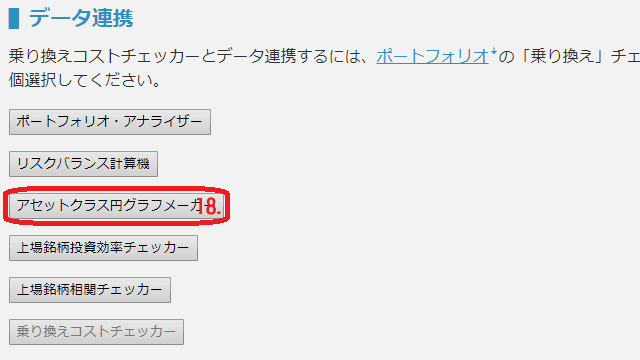 アセットアロケーション円グラフメーカー