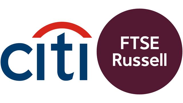 citiとFTSE Russellのロゴのイメージ